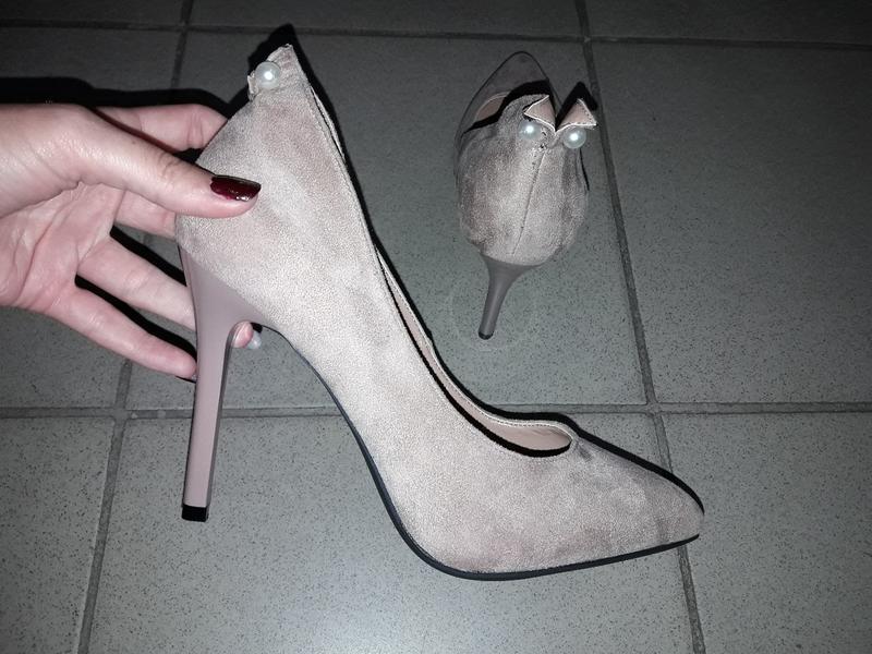 Туфли лодочки  босоножки шпилька жемчужина