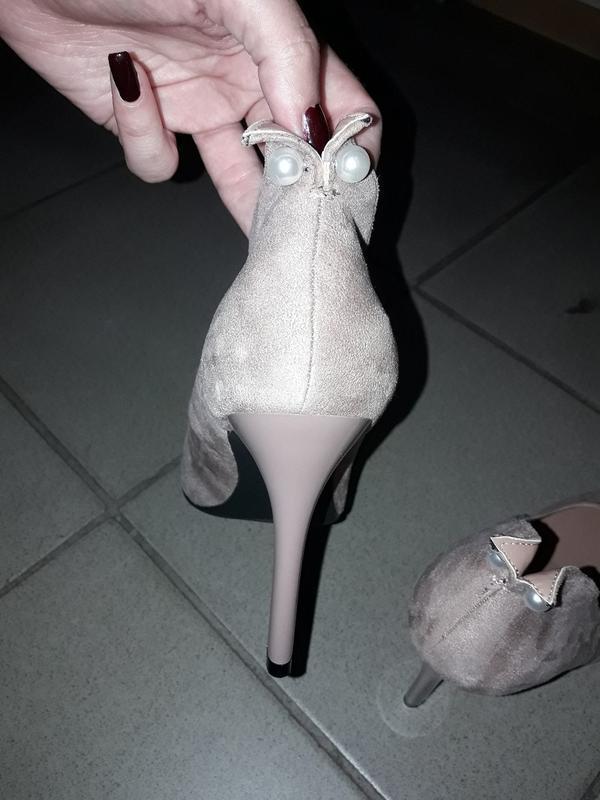 Туфли лодочки  босоножки шпилька жемчужина - Фото 2