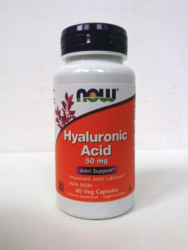 Гиалуроновая кислота Now Foods, 50 мг, 60 капсул
