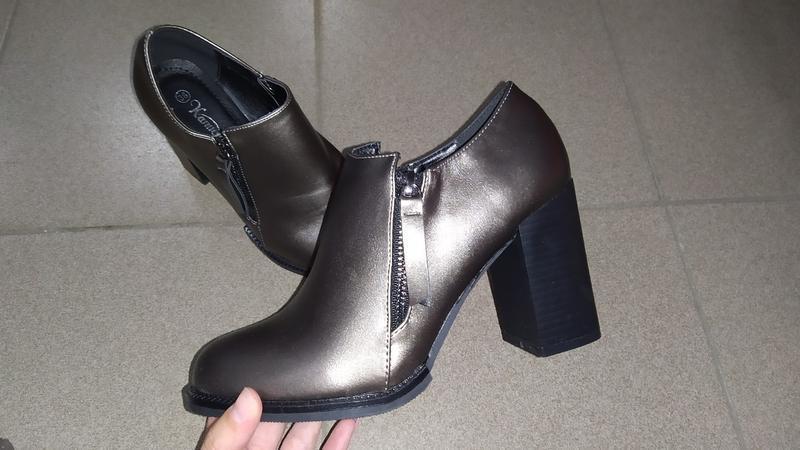 Туфли полуботинки ботинки  каблук ботильоны