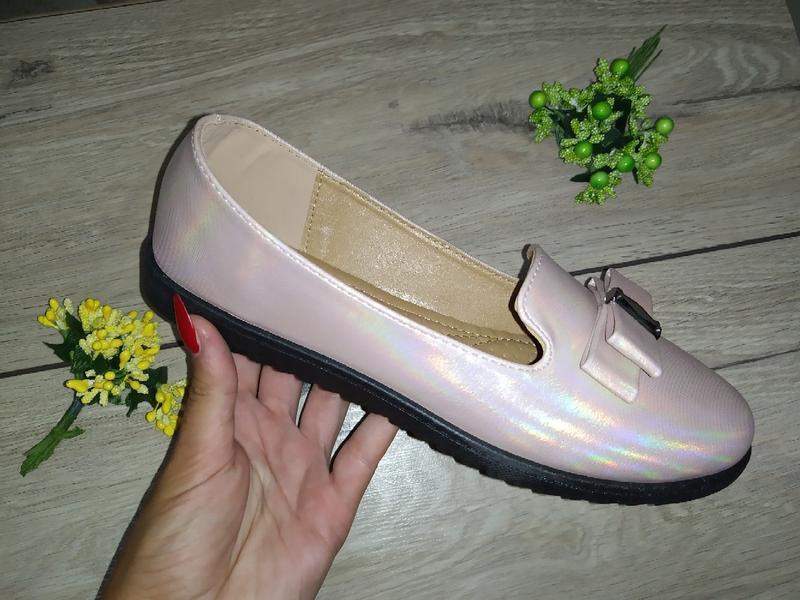 Мягкие балетки классика туфли лоферы туфлі