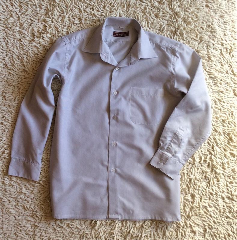Рубашка белая в тонкую полоску