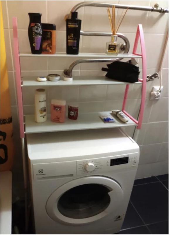 Стойка органайзер над стиральной машиной - Фото 2