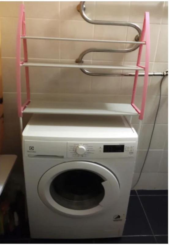 Стойка органайзер над стиральной машиной - Фото 3