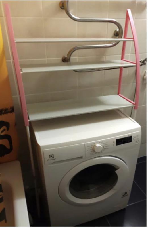 Стойка органайзер над стиральной машиной - Фото 4