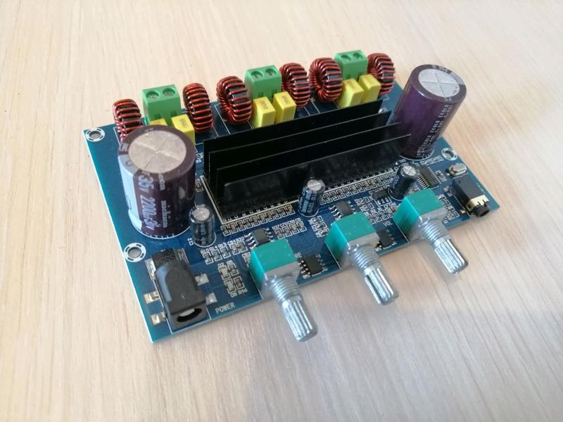 Усилитель 2.1 цифровой Bluetooth 5 TPA3116D2 50Вт + 50Вт + 100Вт