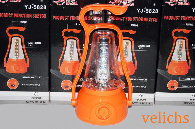 Фонарь-лампа аккумуляторный кемпинговый YJ-5828 с регулятором