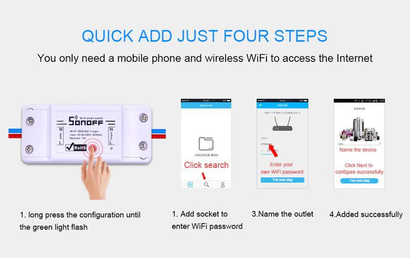 Wifi реле Sonoff Basic 10A 2200 Вт - Фото 4