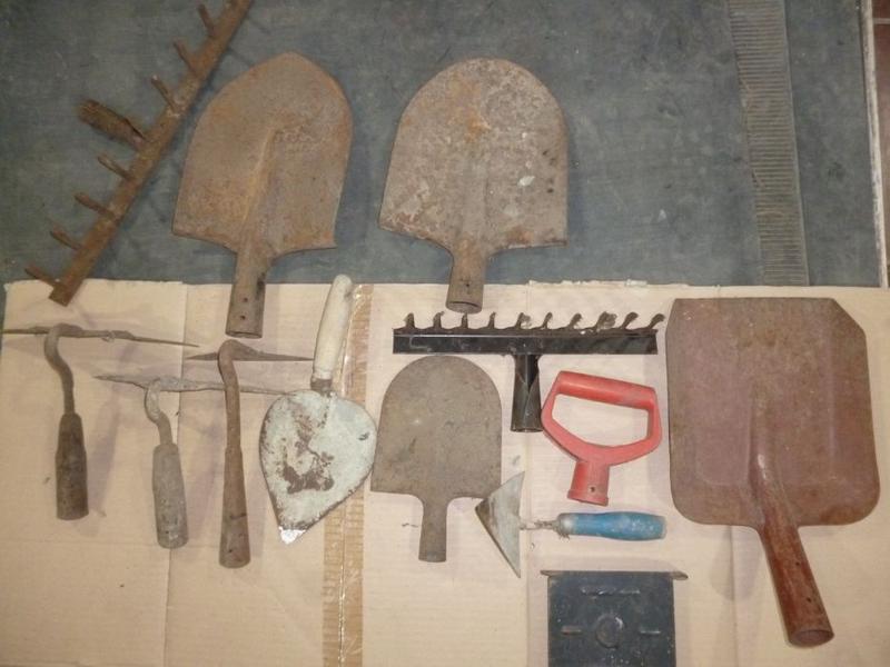 Сапа сапка лопата мастерок кельма грабли СССР