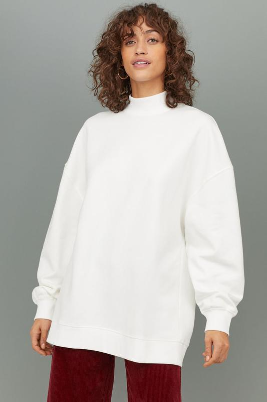 Белый шерстяной свитер джемпер оверсайз  айвори piter werth бо...