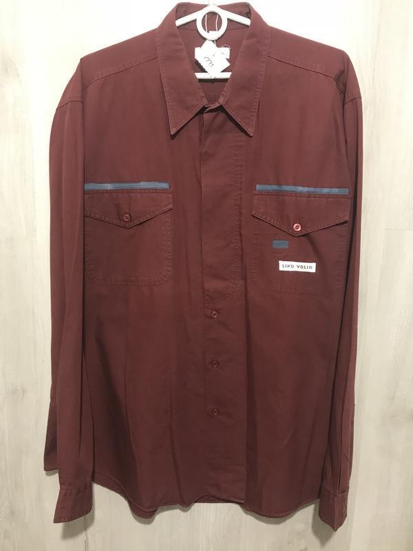 Рубашка мужская lino volio бордовая 031 (xl)
