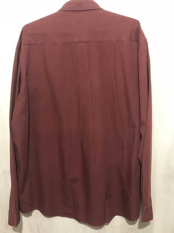 Рубашка мужская lino volio бордовая 031 (xl) - Фото 2