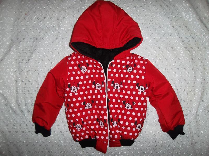 Курточка на девочку 2-4г минни