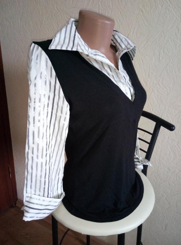 Подарок при покупке 2-х вещей.evie collection рубашка+жилетка ...
