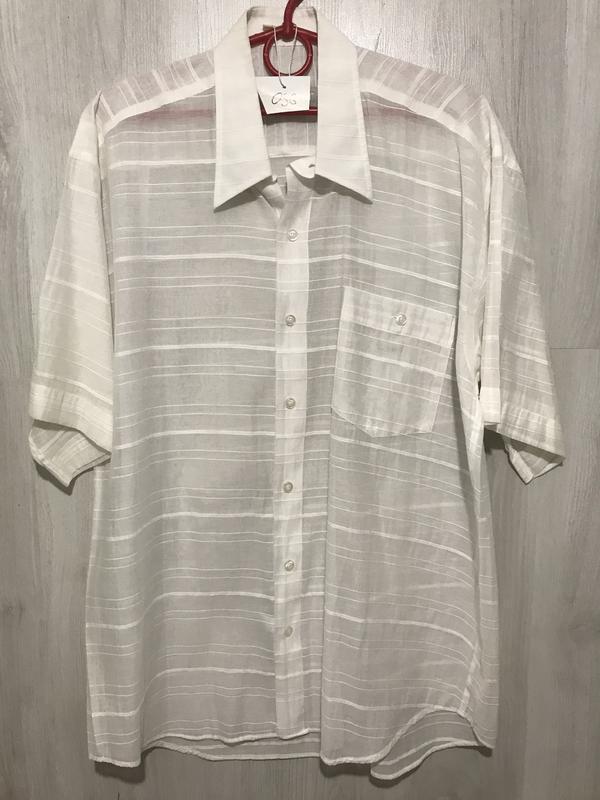 Рубашка мужская flexion белая  036 (l)