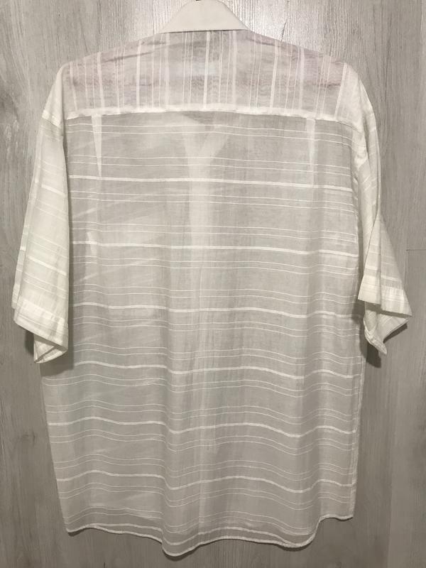 Рубашка мужская flexion белая  036 (l) - Фото 2