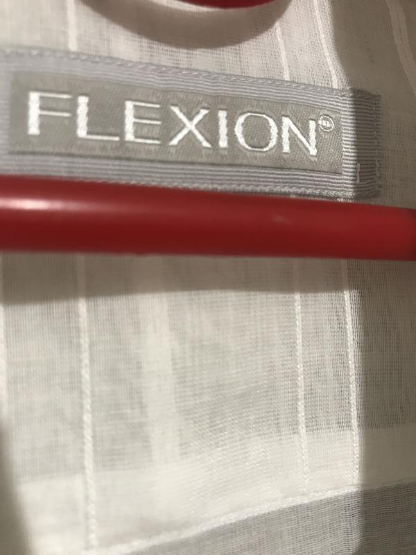 Рубашка мужская flexion белая  036 (l) - Фото 3