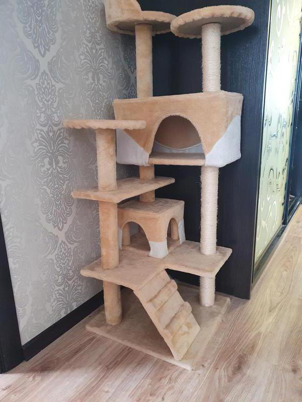 Игровой домик-комплекс для кошек