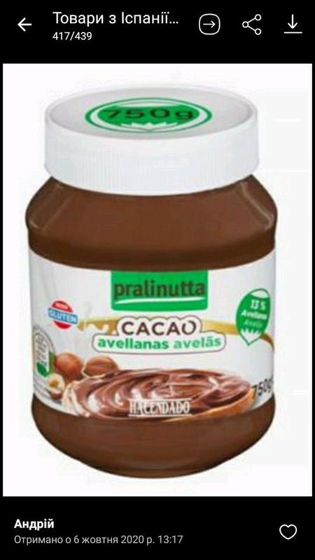 Шоколадна паста.  Іспанія