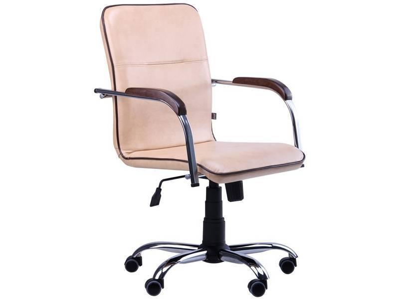 Офисное кожаное кресло Самба