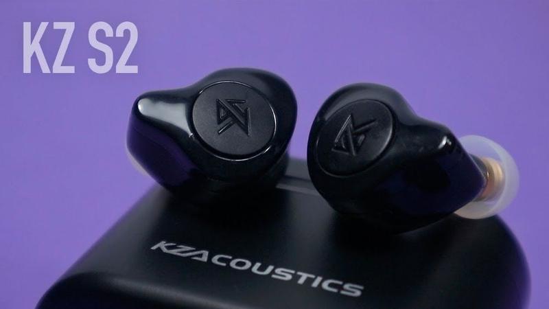Наушники Bluetooth KZ S2 TWS (Гарнитура) AAC (Два драйвера) Бе...