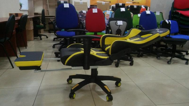 Кресло VR Racer BattleBee черный/желтый - Фото 2