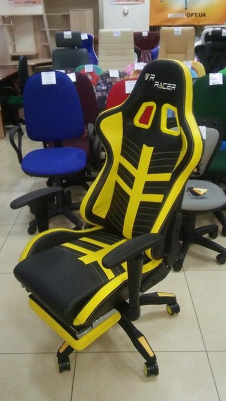 Кресло VR Racer BattleBee черный/желтый - Фото 4