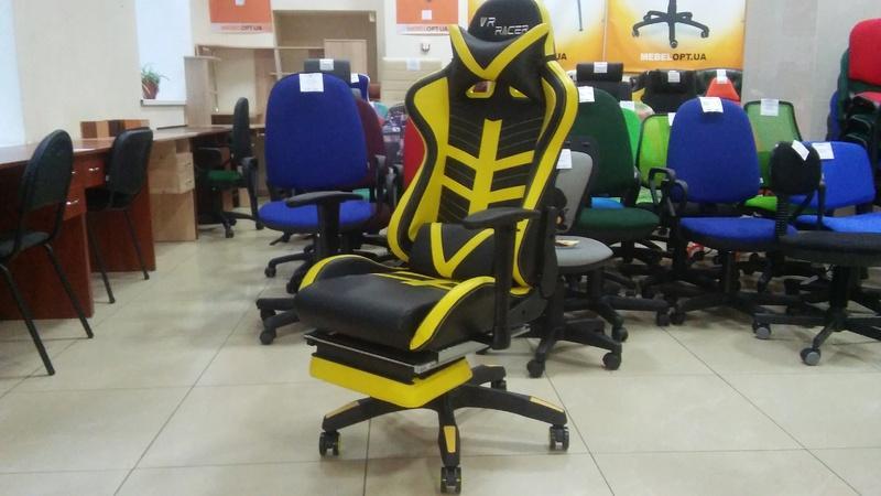 Кресло VR Racer BattleBee черный/желтый - Фото 5