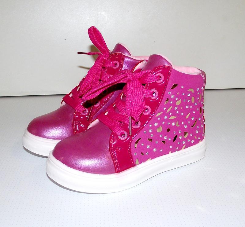 Ботинки демисезонные для девочек хайтопы fucsia