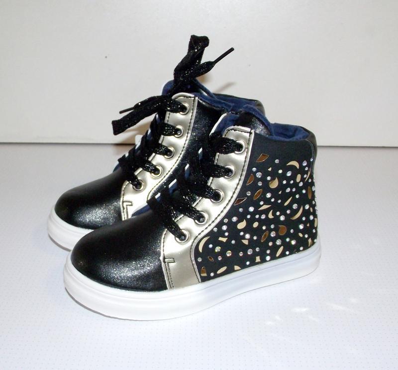 Ботинки демисезонные для девочек хайтопы black
