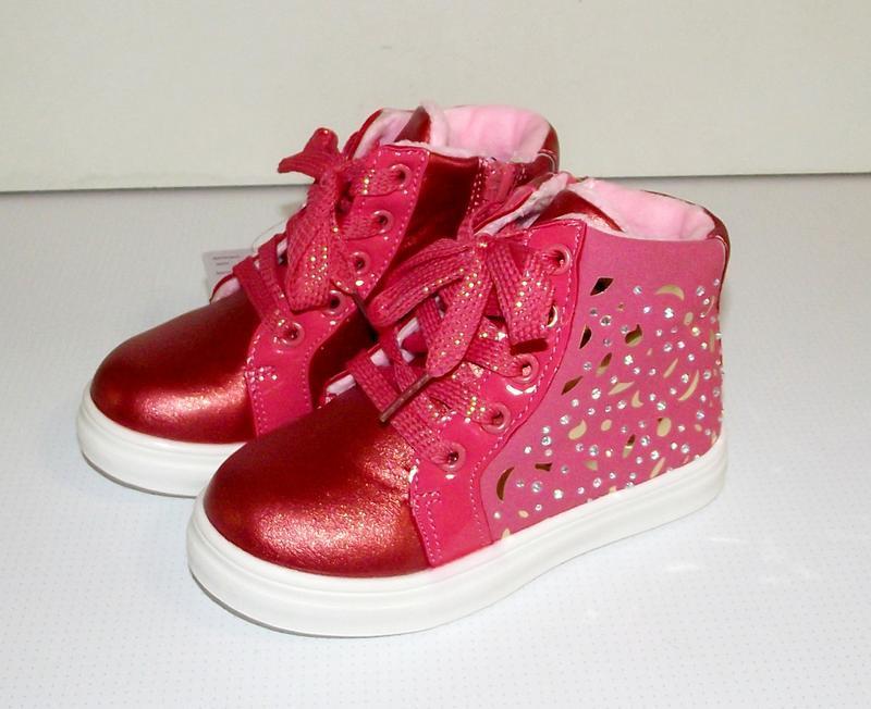 Ботинки демисезонные для девочек хайтопы red