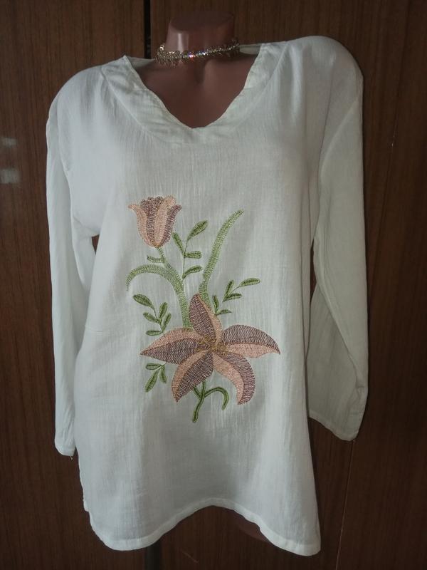 Блузочка-вышиванка  в бохо стиле от mariana garini