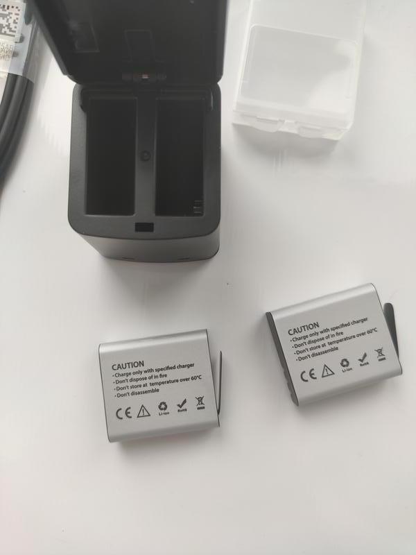 Зарядное устройство с 2 аккумуляторами EKEN H5s H6s H9 - Фото 8