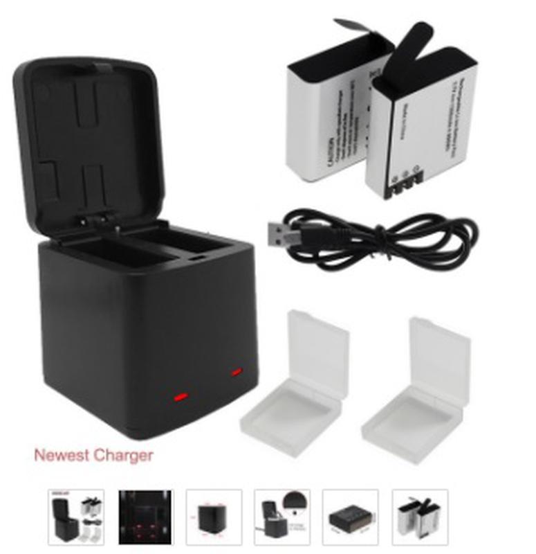 Зарядное устройство с 2 аккумуляторами EKEN H5s H6s H9