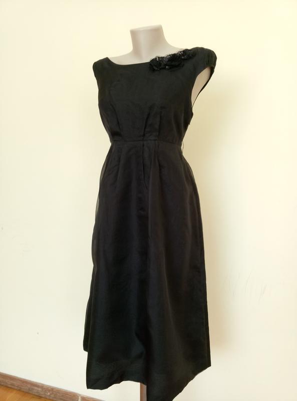 Шикарное шелковое платье от zara