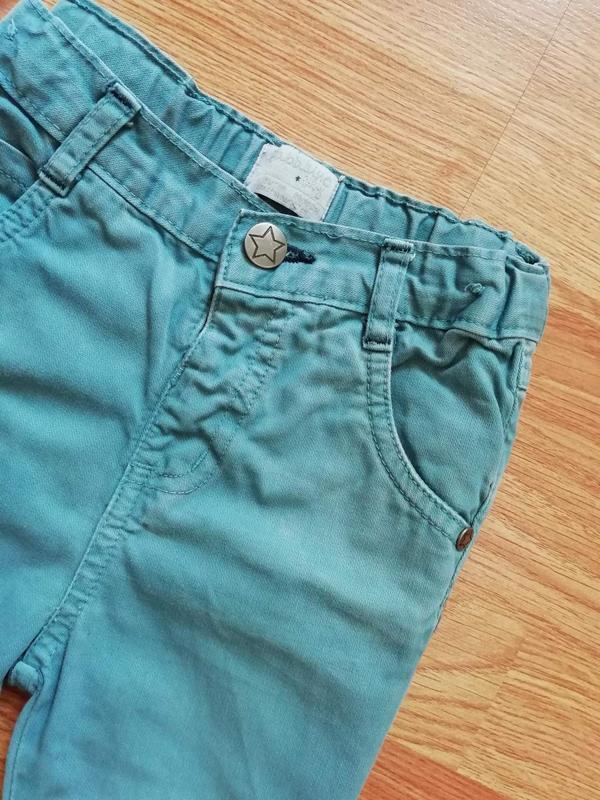 Детские зауженные актуальные коттоновые брюки - джинсы для мал... - Фото 3
