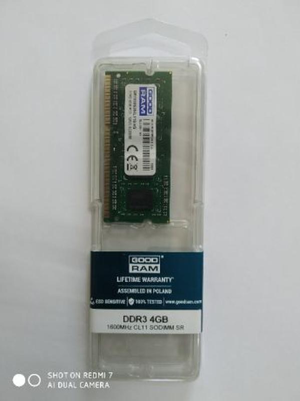 Оперативная память для ноутбука Goodram SODIMM DDR3-1600 4096MB