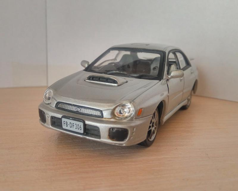 Модель Subaru Impreza Cararama/Hongwell масштаб 1/43