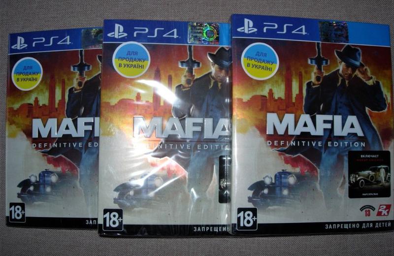 Mafia Definitive Edition. Новые оригинальные Диски PS4. Русские