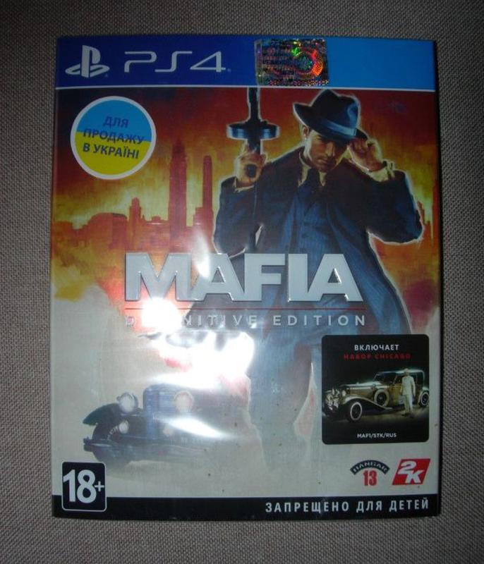 Mafia Definitive Edition. Новые оригинальные Диски PS4. Русские - Фото 2