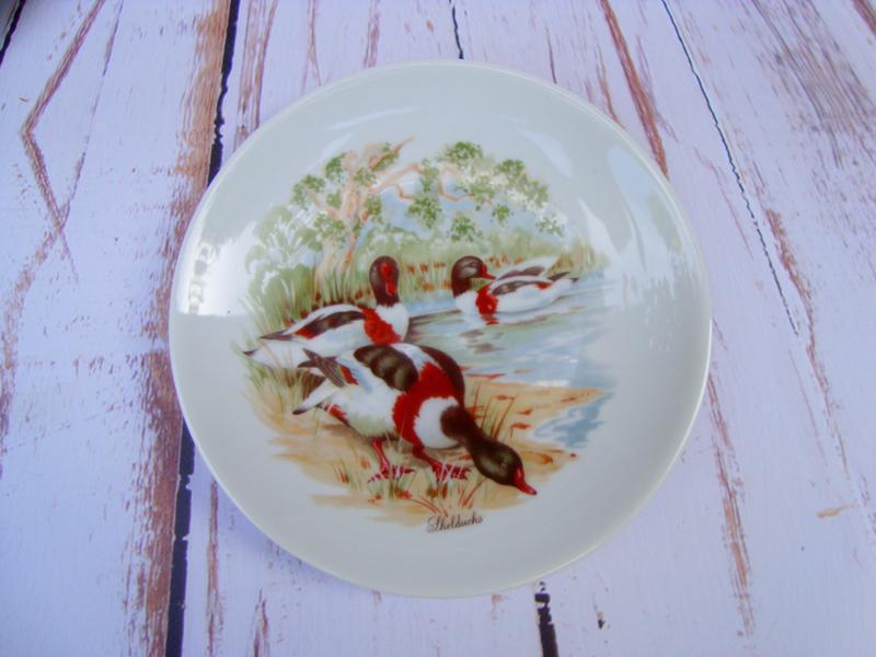 Тарелка коллекционная. Утки. VohenStrauss Bavaria.