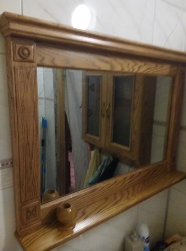 Зеркало в дубовой раме - Фото 4