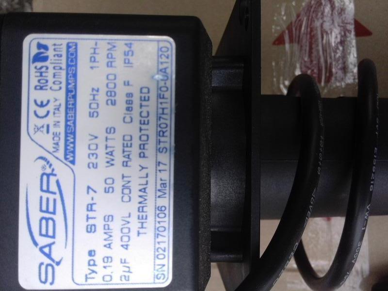 Насос-мешалка для пивоохлодителя Saber STR-7