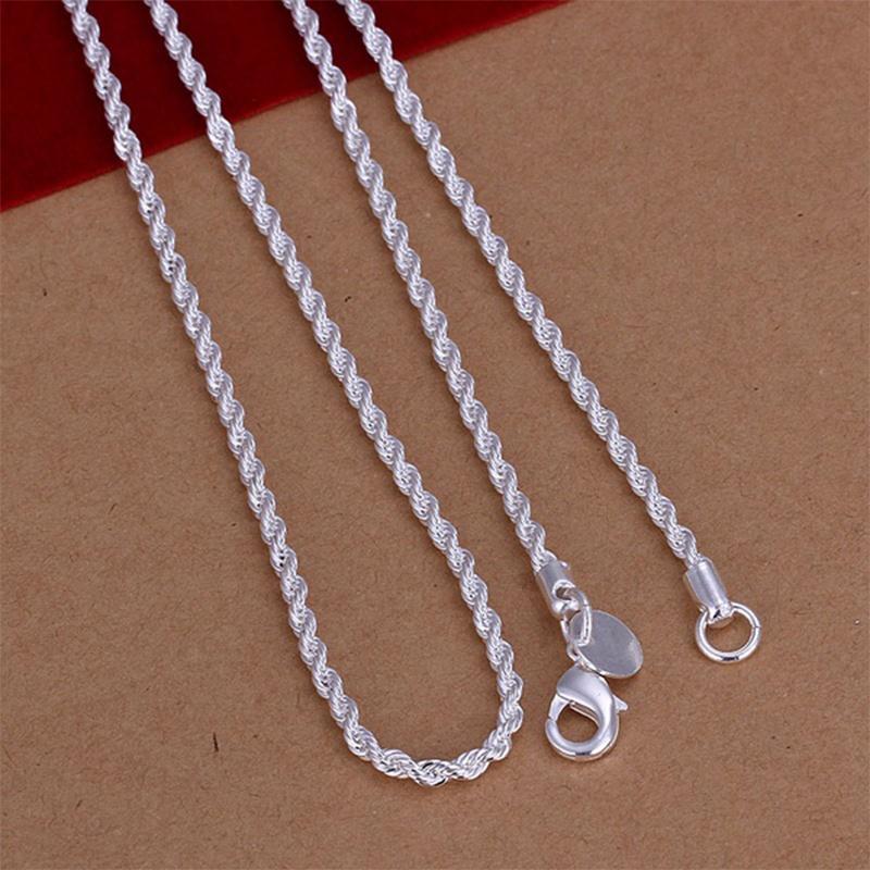 Серебряная витая цепочка 45 см