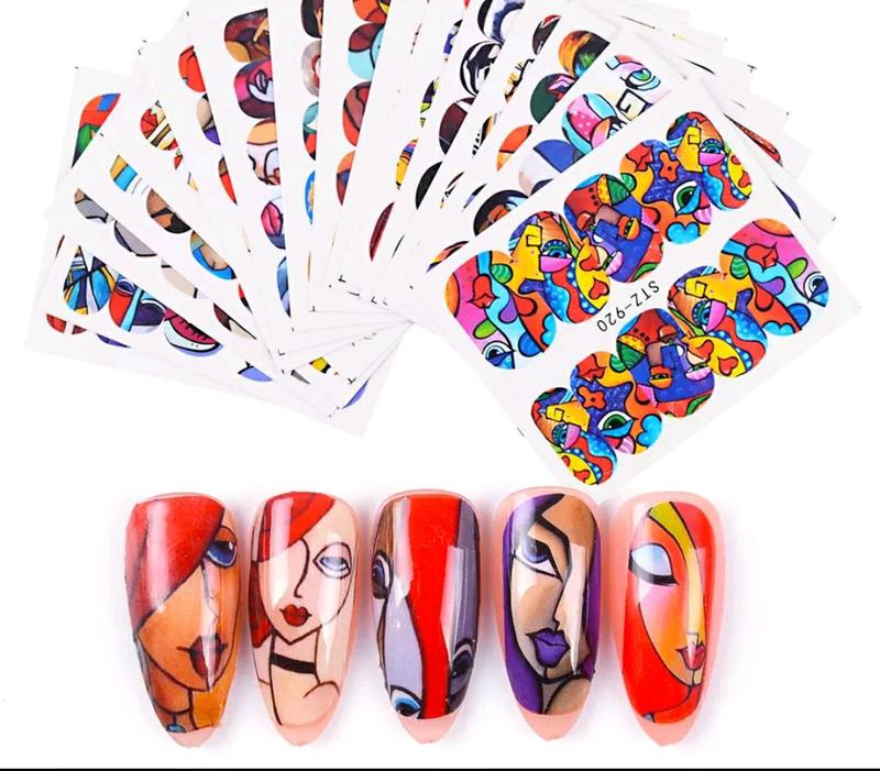 Красивые модные водные наклейки слайдеры для ногтей маникюра