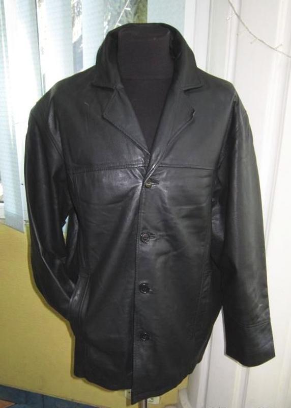 Большая классическая кожаная мужская куртка rover lakes. лот 539