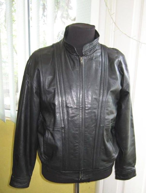 Лёгкая кожаная мужская куртка c&a. лот 540