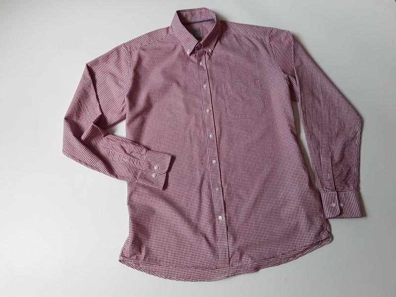 Рубашка в клетку приталенная