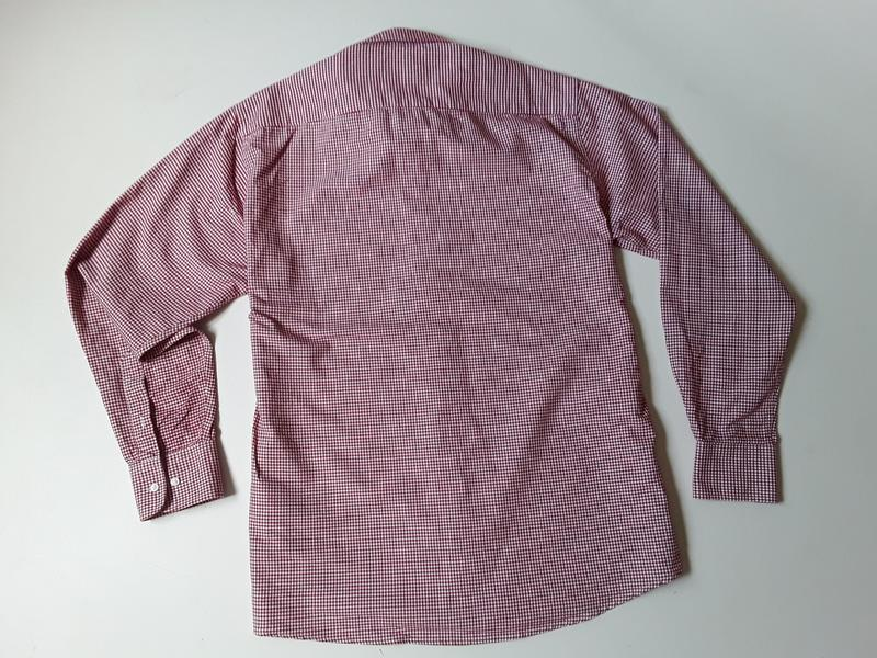 Рубашка в клетку приталенная - Фото 2