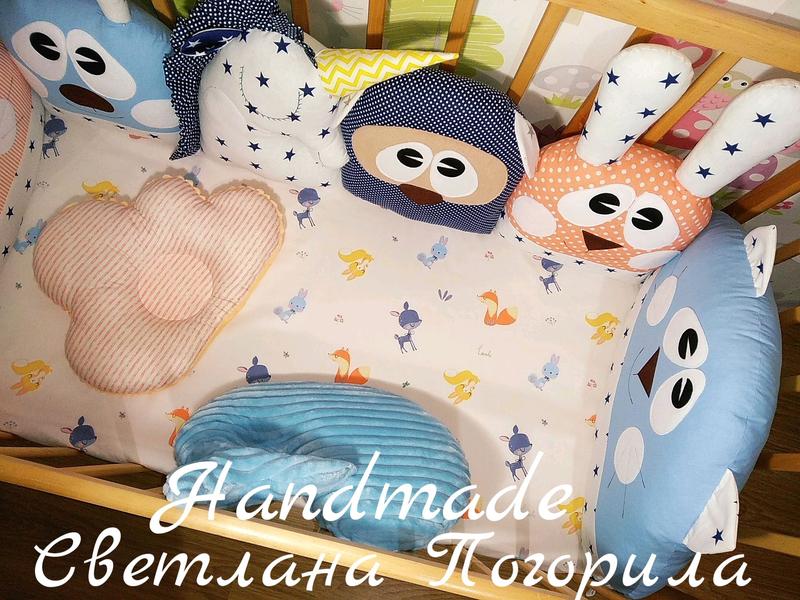 Комплект в НАЛИЧИИ. Бортики в кроватку,защита,детское постельное - Фото 3